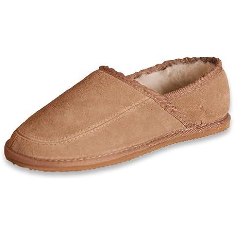 Nordvek - # 444-100 - Pantofole in camoscio e lana donna