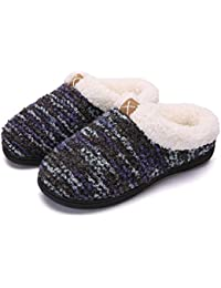 a1face3f01ac adituob Women Men Winter House Slippers Comfort Memory Foam House Shoes  with Anti-Skid Rubber Sole for…