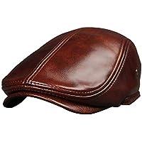 ClothHouse Vera Pelle Berretto Piatto per Gli Uomini Autunno Inverno, Baker-Boy Cappellino qualità di Pelle di Pecora…