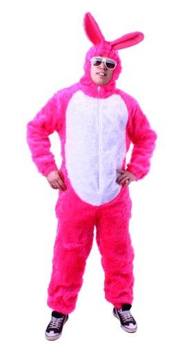 Kostüm Hase Herr - Hasenkostüm pink Plüschkostüm Hase Bunny Kostüm (X-Large)