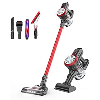 dibea D18 Pro Cordless Stick Vacuum Cleaner 17Kpa Powerful Suction Lightweight Bagless Rechargeable 2 in 1 Handheld Car Vacuum
