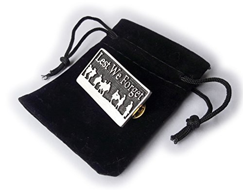 Stoneys Badges Lest We Forget Anstecknadel aus Zinn für Gedenktag und Anzac Day