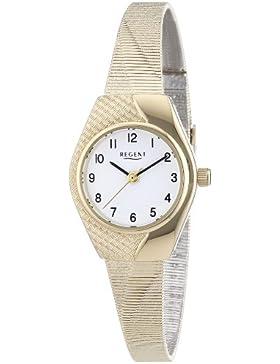 Regent Damen-Armbanduhr XS Analog Quarz Messing 12160061