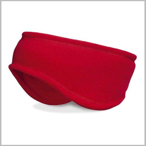 MB CAPS Bandeau polaire Thinsulate de qualité supérieure pour hiver et ski rouge - Rouge