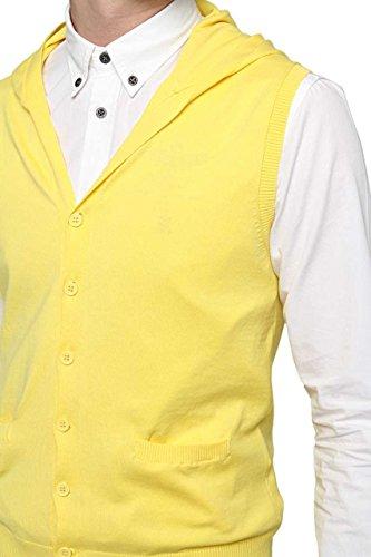David Naman Herren Pullover Strickjacke OLIVER, Farbe: Gelb Gelb