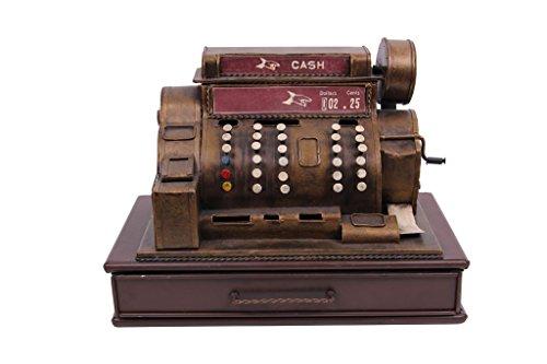 Deko Vintage-Ladenkasse Cash mit Münzeinwurf als Spardose - Handarbeit