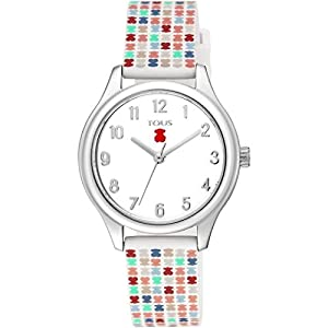 Reloj Tous 900350245 Tartan Kids de Acero con Correa de Silicona