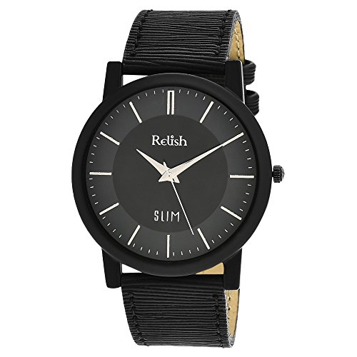 RELISH RE-S807BB SLIM Black Dial Analog Watch For Mens & Boys
