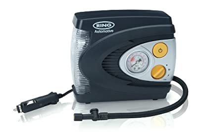 Ring RAC6 12V Tyre Inflator, Air Compressor Tyre Pump, LED Light
