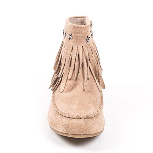 Ideal Shoes ,  Stivali donna Beige