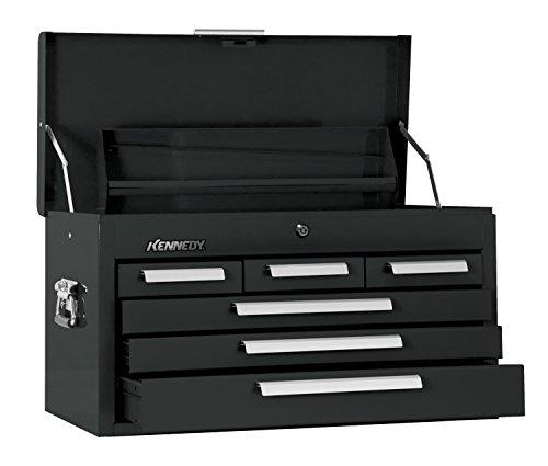 Kennedy Verarbeitung 266BK 66cm Mechaniker Brust Kommode mit 6W/Tablett, Industrie schwarz (Kennedy Werkzeug-boxen)