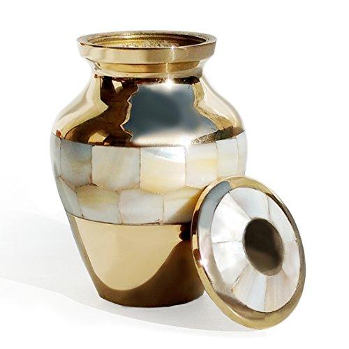 Elite Madre Pearl recuerdo urna urna latón