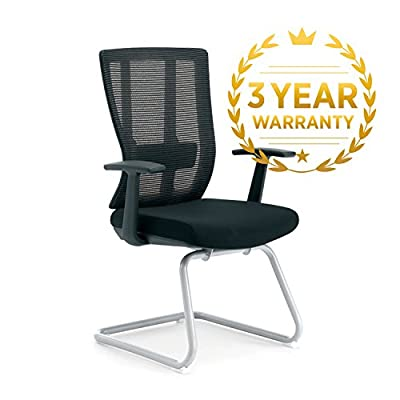 Oseasons - Cantilever Conference / Desk Chair With Adjustable Lumbar Back Support - Perfect For Comforting Your Visitors in Reception or Team Members In Meetings - low-cost UK light shop.