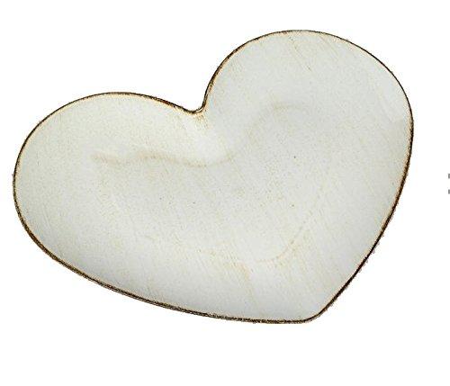 Dio Dekoschale Dekoteller Herzteller Herz creme 24 cm