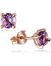 Goldmaid - Fa O5756RG - Boucles d'Oreilles Femme - Or rose 375/1000 (9 carats) 1.2 gr - Améthyste