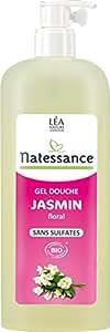 Natessance Hygiène Gel Douche Jasmin Floral sans Sulfates 1 L