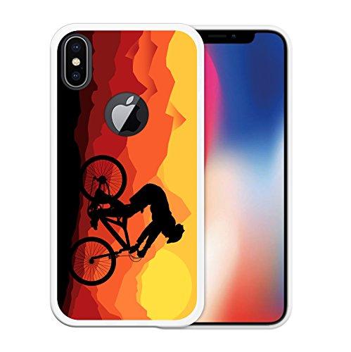 iPhone X Hülle, WoowCase Handyhülle Silikon für [ iPhone X ] Militärischer Stern Handytasche Handy Cover Case Schutzhülle Flexible TPU - Schwarz Housse Gel iPhone X Transparent D0563