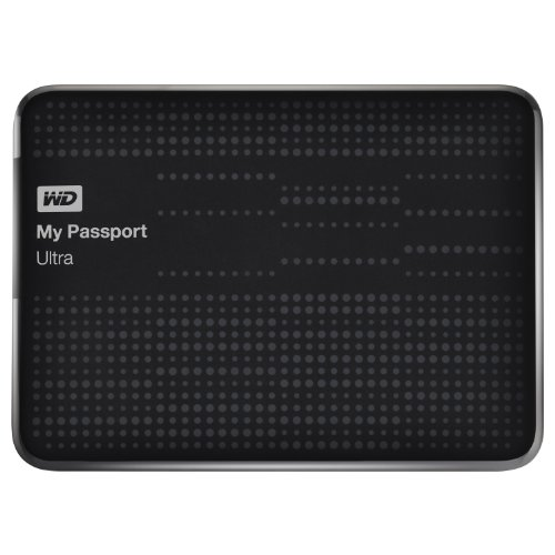 WD My Passport 2 TB Ultra Externe Festplatte (6,4 cm (2,5 Zoll), Kabel, Backup-Software, Passwortschutz, Hardware-Verschlüsselung, autom. Cloud-Backup, USB 2.0, USB 3.0) schwarz