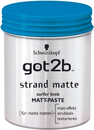 Schwarzkopf got2b Strand Matte Matt-Paste , 2er Pack (2 x 100 ml)