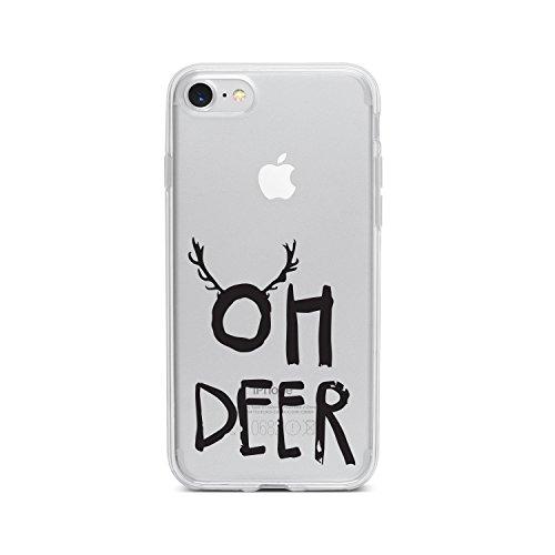 licaso Apple iPhone 8 Handyhülle Smartphone Apple Case aus TPU mit Oh Deer Print Motiv Slim Design Transparent Cover Schutz Hülle Protector Soft Aufdruck Lustig Funny Druck