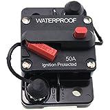 T Tocas(tm) 50 Ampères Disjoncteur Circuit Breaker avec Manuel Interrupteurs DC 12V- 48V, imperméable à l'eau pour Bateau Voiture Yacht RV(50A)