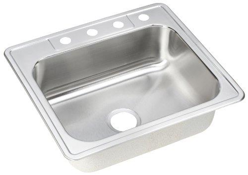 ELKAY dse125224Dayton Elite 25-inch da 22ciotola da lavello cucina vasca singola in acciaio inox, finitura satinata