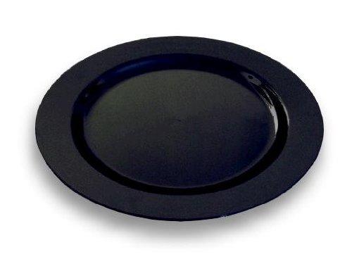 20 assiettes plastique jetables couleur noire 15 cm