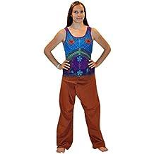 estupendo tradicional Pantalones De Yoga - Sari - en muchos colores - Granate