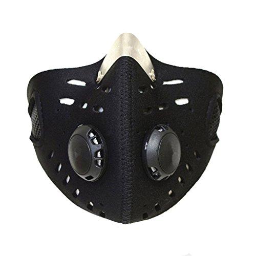 Qiorange Schwarz Wind Staub Kalt Schutz Gesichtsmaske Filter für Radfahren Fahrrad Motorrad Ski Sportart