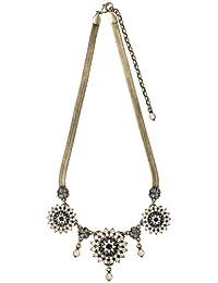 Pilgrim First Lady - Collar de latón con cristal