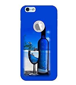 Vizagbeats Wine Bottle Glass Back Case Cover for Apple iPhone 6 logo cut