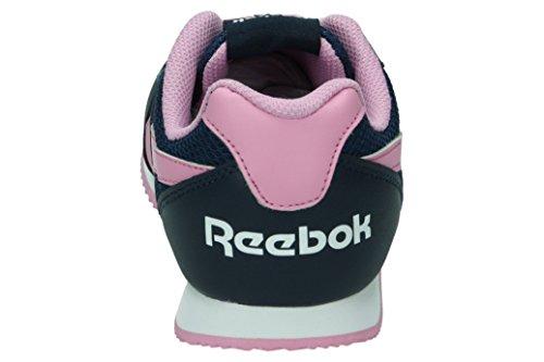 Reebok Royal Classic Jogger 2.0, Chaussures de Course Fille Bleu / rose / blanc (bleu marine collégial / rose icône / blanc)