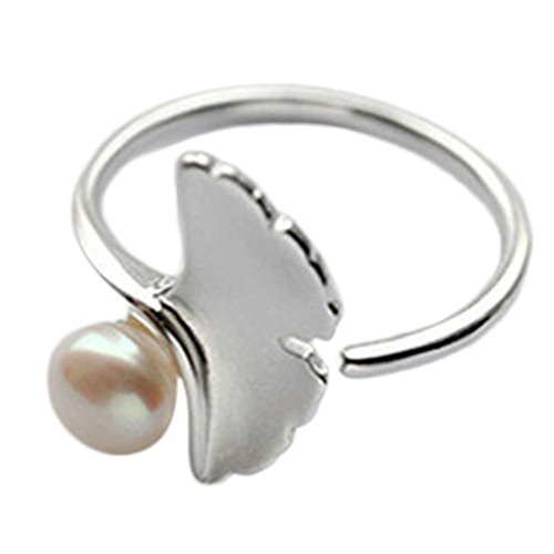 Hosaire Damen Ringe Romantische Ginseng und-Perle Form glänzend Ring verstellbar Schmuck Geschenk - Ginseng-perle