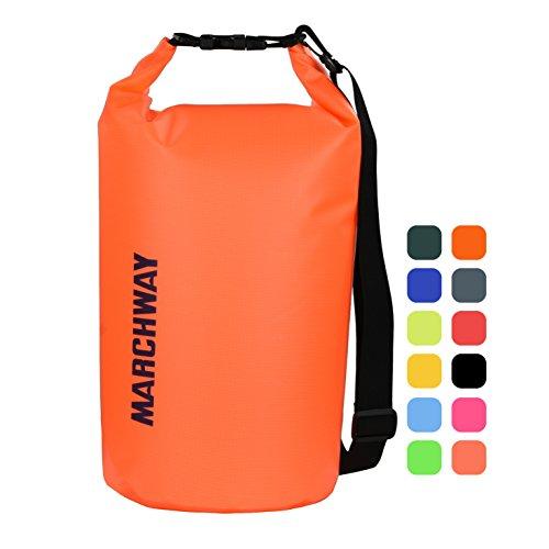 MARCHWAY Schwimmende Wasserdichte Dry Bag 5L-/10l/20l/30L/40L, Rolle Top Sack hält Gear Trocken für Kajak, Rafting, Bootsfahren, Angeln, Schwimmen, Camping, Wandern, Strand,