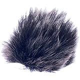 Microphone Casque Fourrure Pare-brise Housse Pour Revers Micro Cravate 0.5cm - Noir