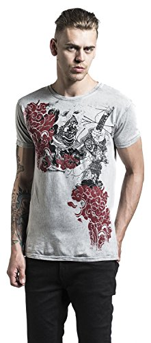 Outer Vision Demon Tattoo T-Shirt grau Grau