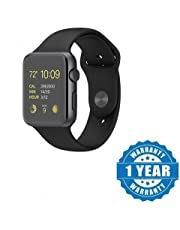 Coolmobiz A1 Bluetooth Smart Watch with Camera and Sim Card Support with Apps Like Facebook and Whatsapp for All 3G & 4G Android/iOS Smartphones (Black)