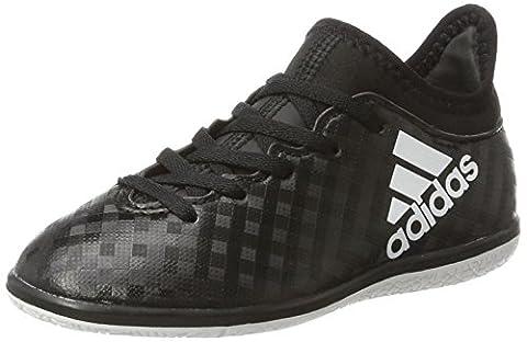 adidas Unisex-Kinder X 16.3 in J Fußballschuhe, Schwarz (C Black/Ftw White/C Black), 31 EU