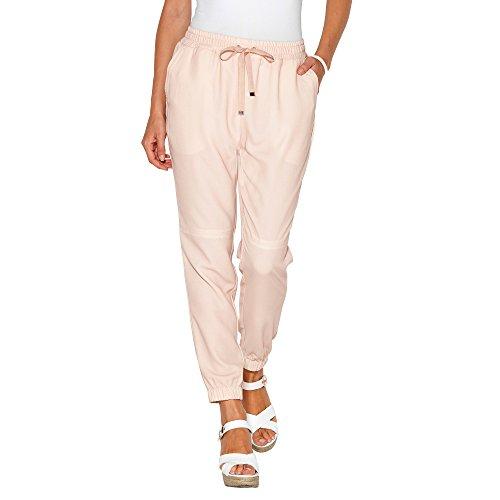 Pantalón tipo jogging con cintura y puños elásticos by VencaStyle,ROSA NUDE,XL