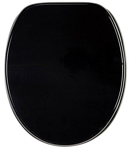 Sedile WC, grande scelta di belli sedili WC uni, da legno robusto e di alta qualità (Nero)