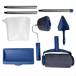 Paint Roller Kit, Pro Edger DIY Brush Handle Room Wall Painting Runner Roller Tool Home Wall Decorative - 8Pcs
