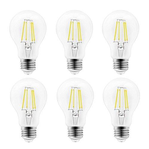 Arvidsson Bombillas LED E27, 4W equivalente a 60 W, 470 lúmenes 2700K Blanco cálido, 360° Ángulo del Haz, No regulable, Pack de 6 Unidades