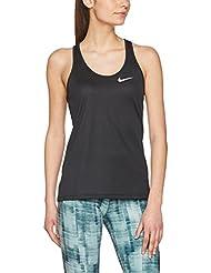 Nike W Nk Brthe Rapid Tank Camiseta sin Mangas, Mujer, Negro (Black / Black), L