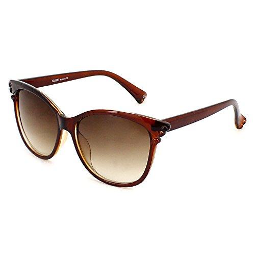 QUBE Women Butterfly Sunglasses (Brown)