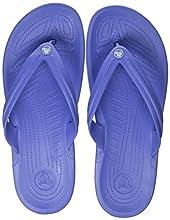 Crocs Crocband Flip, Infradito Unisex – Adulto, Bianco (Lapis/White), 39/40