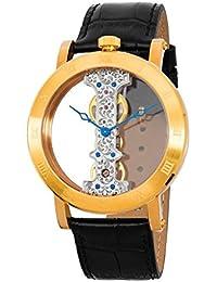 Burgmeister Armbanduhr für Herren mit Analog Anzeige, Handaufzug-Uhr und Lederarmband - Wasserdichte Herrenuhr mit zeitlosem, schickem Design - klassische Uhr für Männer - BM331-202 Tulsa