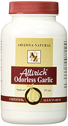 Allirich, Odourless Garlic, 200 Capsules