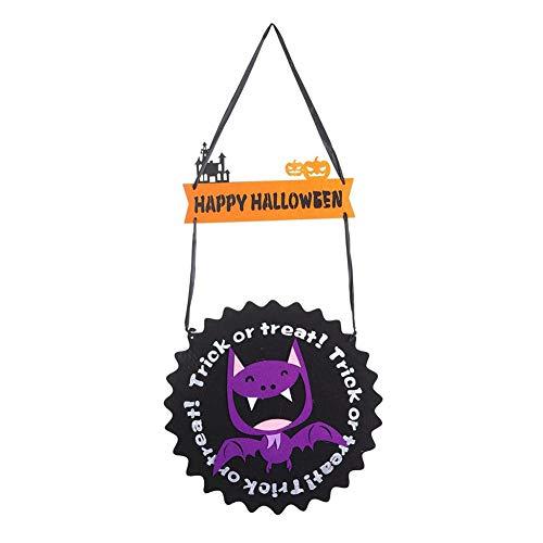 n Dekoration Filztuch Anhänger Fledermaus Geist Kürbisform Hängende Ornamente COS Party Requisiten Halloween Prop Für Halloween Party Dekoration ()