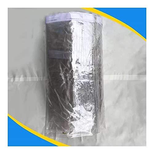 17 Taglie Color : Clear, Size : 1x2m BAIYINNG Telone Telo Copertura Trasparente Panno Antipioggia Sezione Spessa Balcone Capannone Fibbia in Metallo Resistente allUsura in PVC