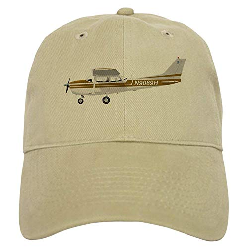 Preisvergleich Produktbild Osmykqe Cessna 172 Skyhawk Brown - Baseball Cap with Adjustable Closure,  Unique Printed Baseball Hat GH819